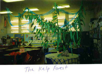 Mrs. McGibbon's fourth grade at Grant Elementary in Eureka, CA transforms their classroom into a kelp forest!