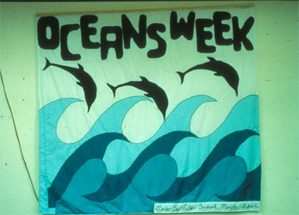 Oceans Week sign made during a school Ocean Immersion